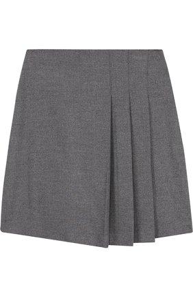 Однотонная юбка с защипами | Фото №1