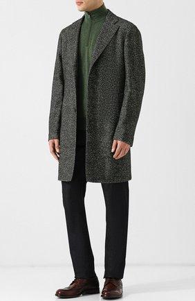 Однобортное шерстяное пальто   Фото №2