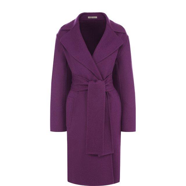 Однотонное кашемировое пальто с поясом Bottega Veneta