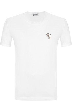 Однотонная хлопковая футболка   Фото №1