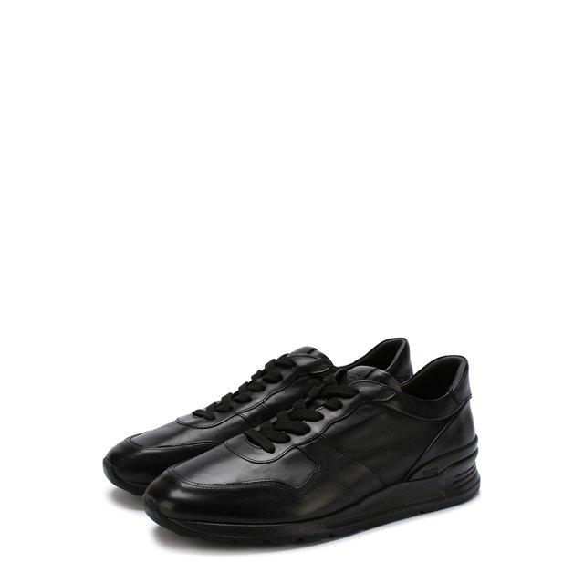 Кожаные кроссовки на шнуровке Tod's — Кожаные кроссовки на шнуровке