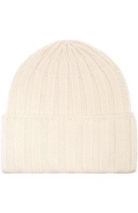 Кашемировая вязаная шапка Vintage Shades белого цвета | Фото №1
