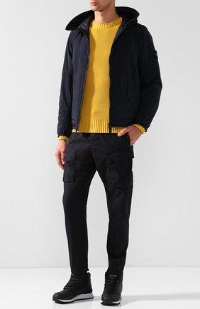 Высокие кожаные утепленные кроссовки 755 New Balance черные | Фото №1