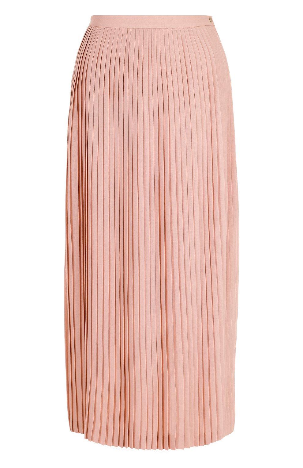 Плиссированная юбка-миди из шерсти   Фото №1
