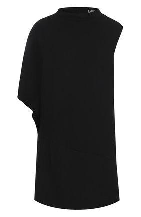 Однотонное мини-платье с воротником-стойкой | Фото №1