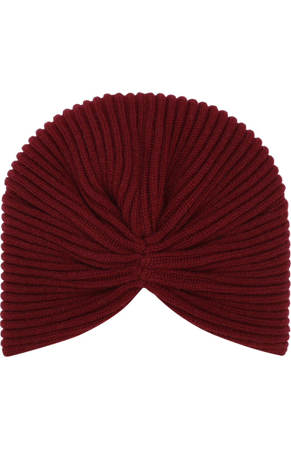 Кашемировый тюрбан Inverni бордового цвета | Фото №2