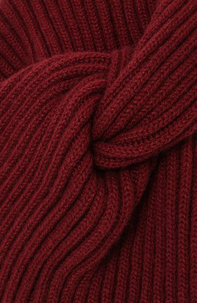 Кашемировый тюрбан Inverni бордового цвета | Фото №3