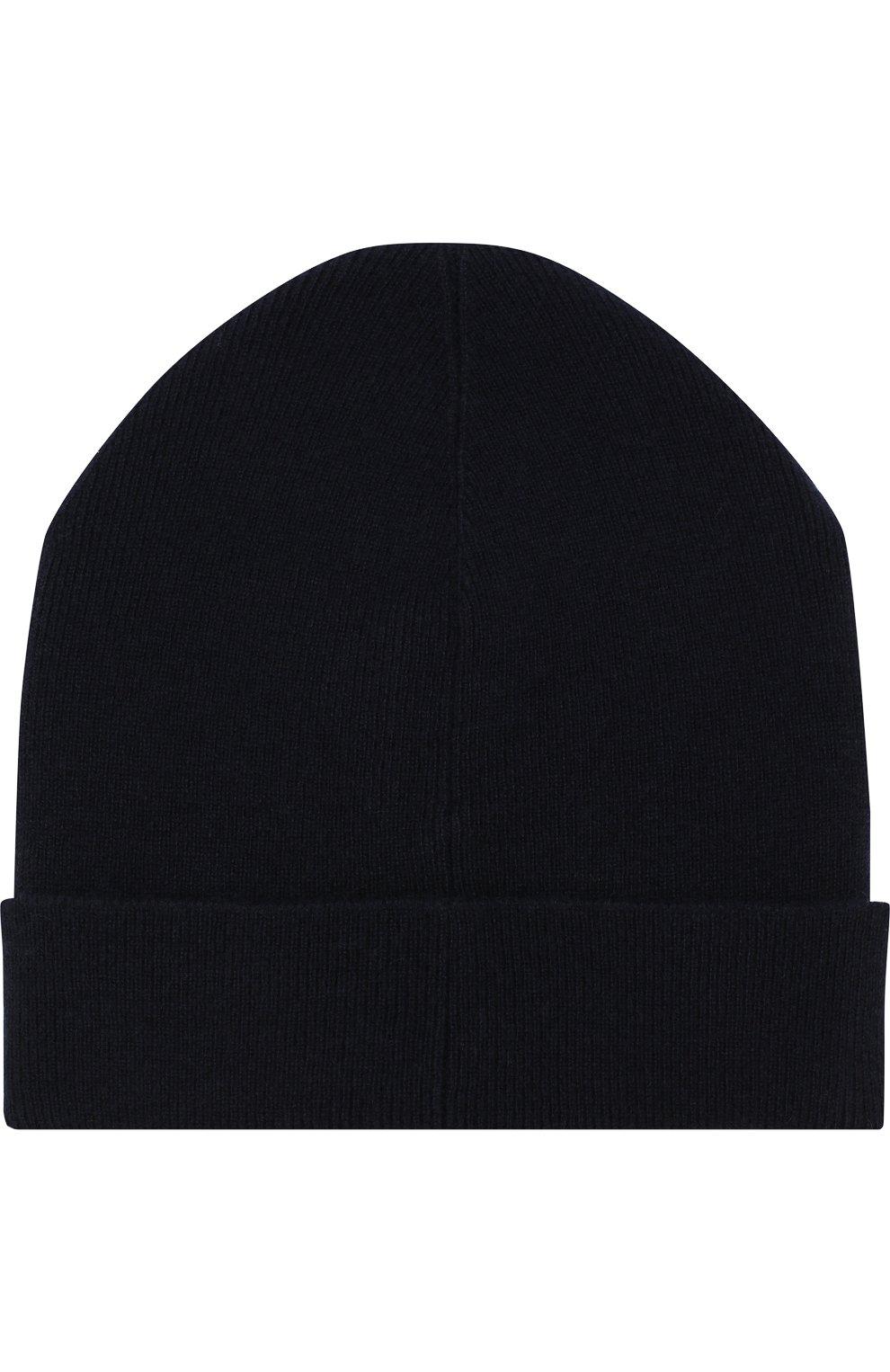 Мужская кашемировая шапка с отворотом BRIONI темно-синего цвета, арт. 04M20L/07K11 | Фото 2