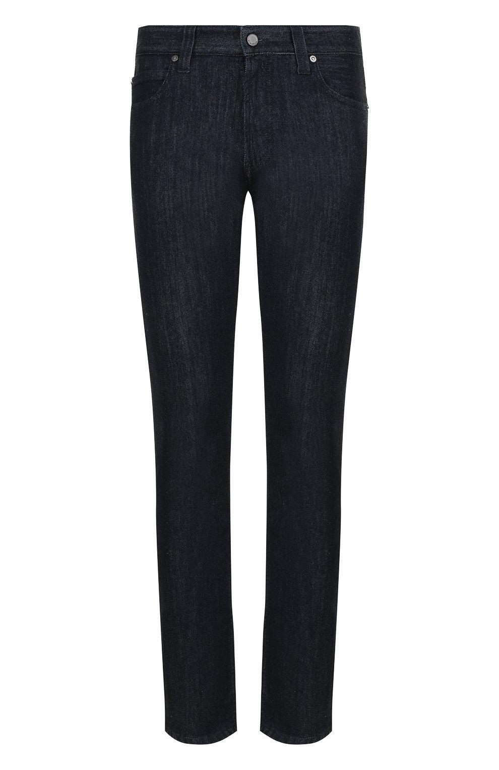Мужские джинсы прямого кроя GIORGIO ARMANI синего цвета, арт. 6ZSJ15/SD30Z   Фото 1