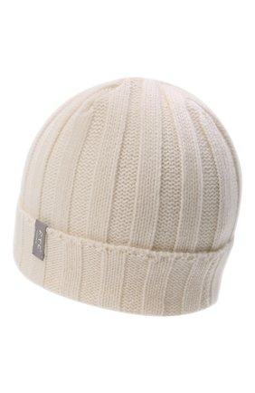 Мужская кашемировая шапка FTC белого цвета, арт. 008-0252 | Фото 2