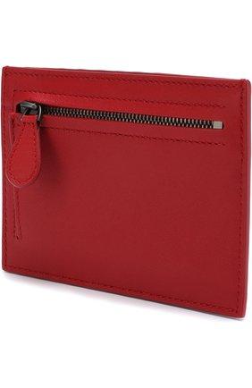 Женский кожаный футляр для кредитных карт с плетением intrecciato BOTTEGA VENETA красного цвета, арт. 162156/V001N | Фото 2
