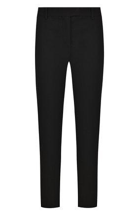 Укороченные однотонные брюки из шерсти | Фото №1