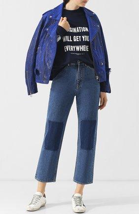 Укороченные джинсы прямого кроя Golden Goose Deluxe Brand синие | Фото №1