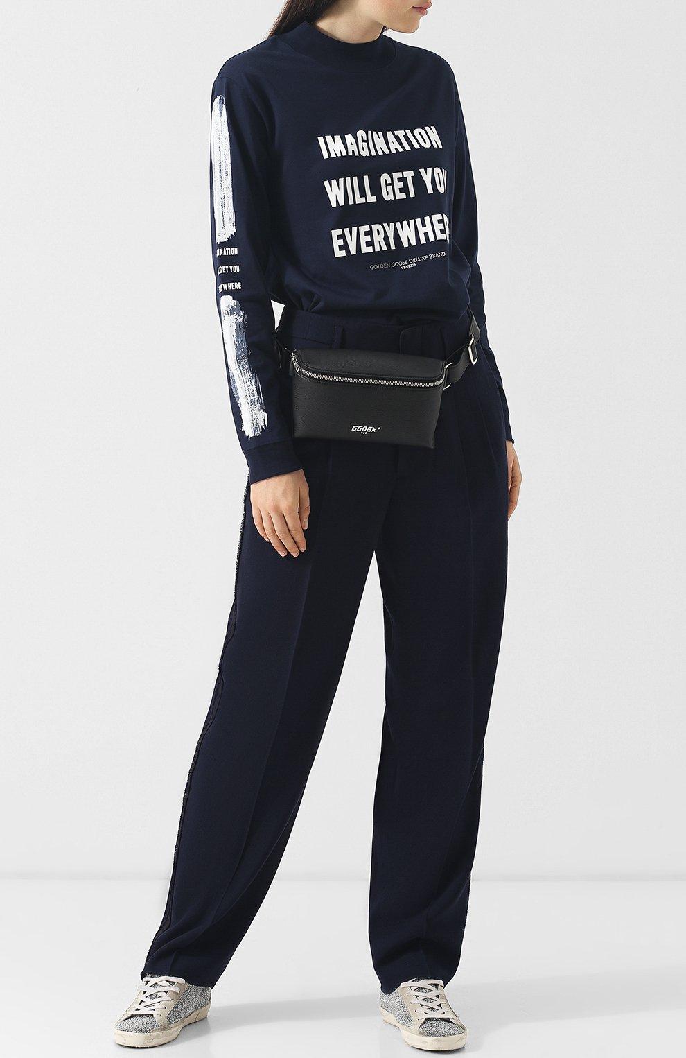 4486c6017f8f Хлопковый пуловер с круглым вырезом и надписями