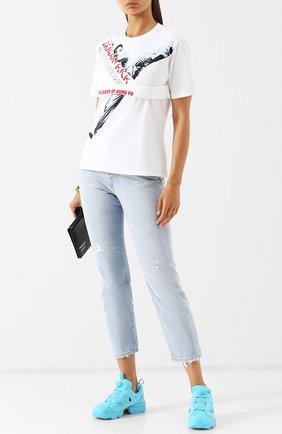 Хлопковая футболка с круглым вырезом и принтом Kenzo разноцветная | Фото №1