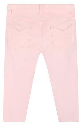 Детские вельветовые брюки с молниями LORO PIANA светло-розового цвета, арт. FAI2785   Фото 2