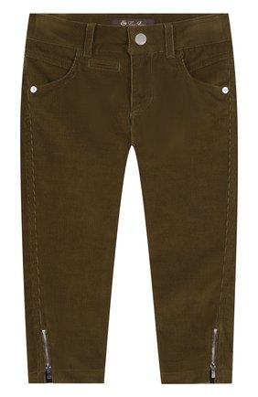 Вельветовые брюки с молниями | Фото №1