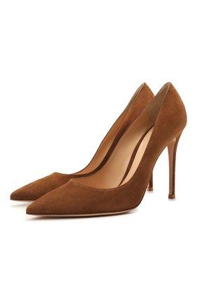 Замшевые туфли Gianvito 105 на шпильке | Фото №1