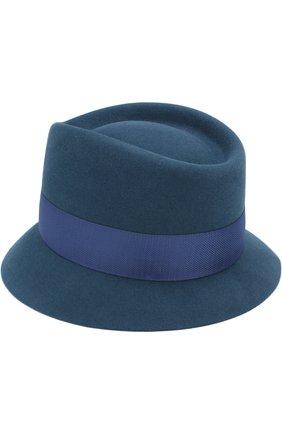Женская фетровая шляпа oval hat LORO PIANA синего цвета, арт. FAI2730 | Фото 2 (Статус проверки: Проверена категория, Проверено; Материал: Шерсть)