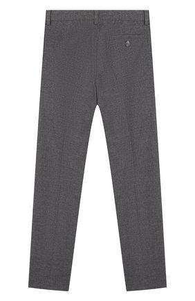 Детские однотонные брюки прямого кроя Il Gufo серого цвета | Фото №1