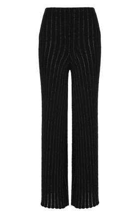 Укороченные расклешенные брюки из шерсти Giorgio Armani черные | Фото №1