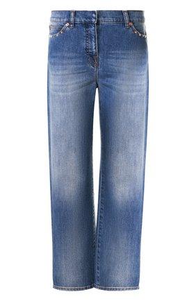 Женские джинсы VALENTINO голубого цвета, арт. QB3DD03G2PY   Фото 1