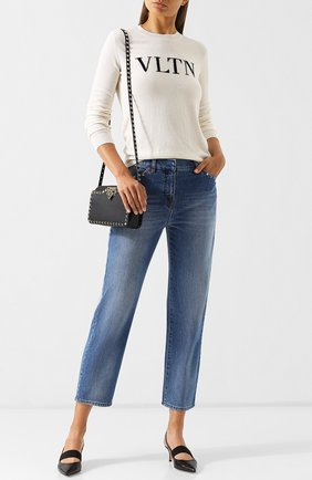 Женские джинсы VALENTINO голубого цвета, арт. QB3DD03G2PY   Фото 2