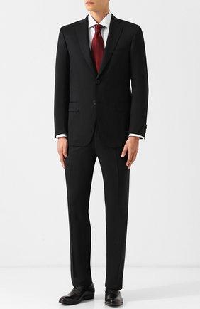 Шерстяной костюм с однобортным пиджаком   Фото №1