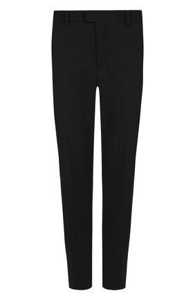Укороченные шерстяные брюки со стрелками REDVALENTINO черные | Фото №1