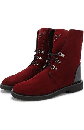Замшевые ботинки Fortune с внутренней меховой отделкой | Фото №1