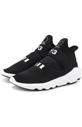 Текстильные кроссовки Suberou  Y-3 черные | Фото №1