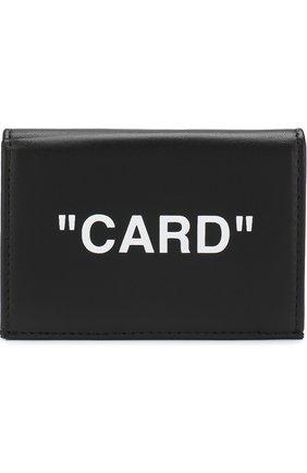 Кожаный футляр для кредитных карт с принтом | Фото №1