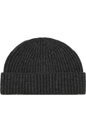 Мужская кашемировая шапка BRUNELLO CUCINELLI темно-серого цвета, арт. M2293900 | Фото 1
