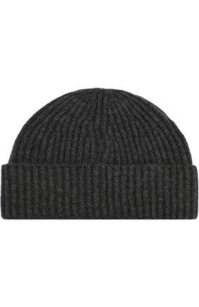 Мужская кашемировая шапка BRUNELLO CUCINELLI темно-серого цвета, арт. M2293900 | Фото 2