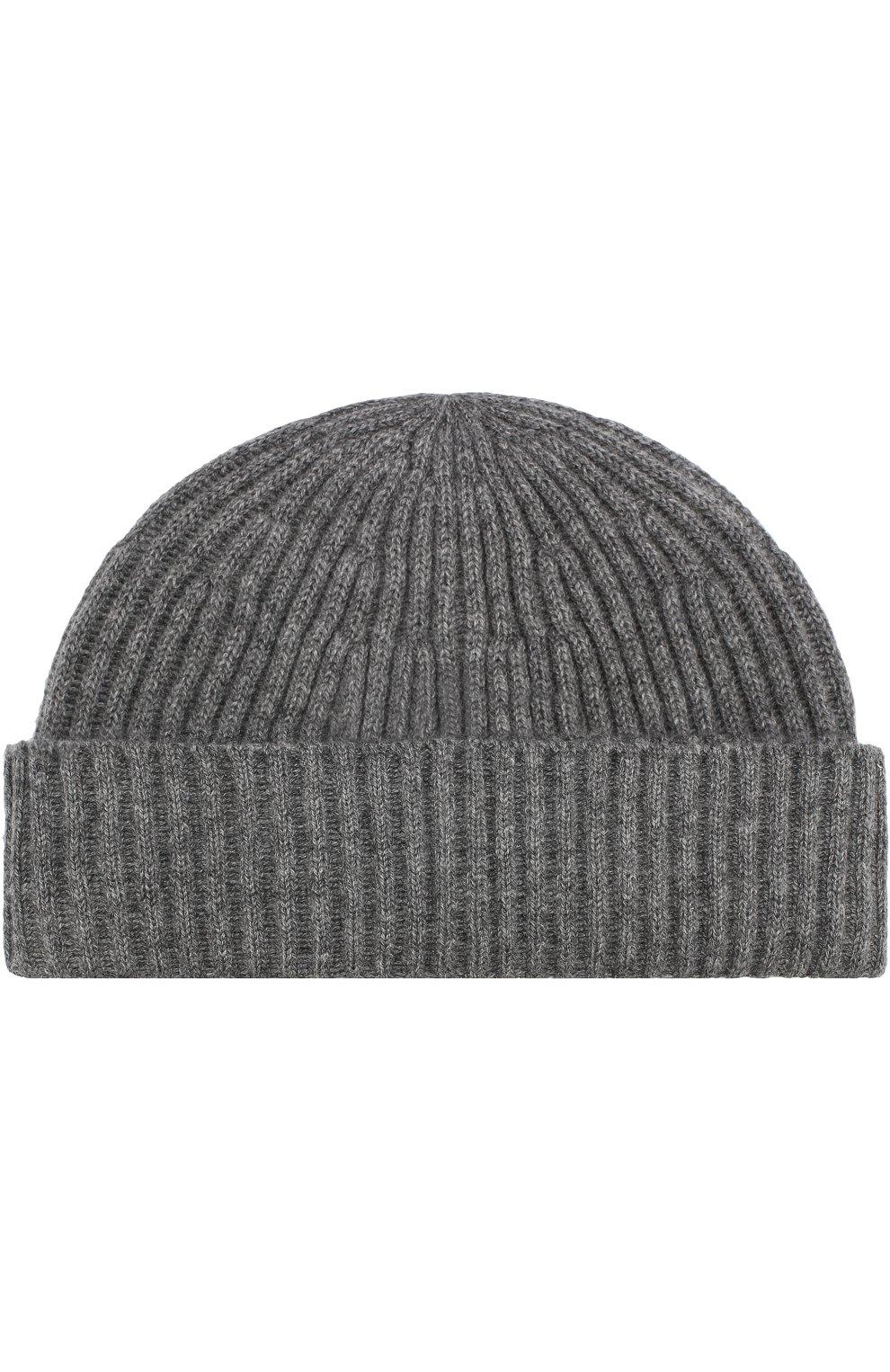 Мужская кашемировая шапка BRUNELLO CUCINELLI серого цвета, арт. M2293900 | Фото 1