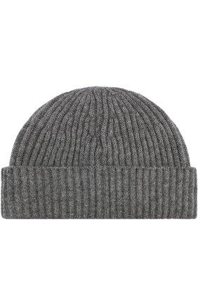 Мужская кашемировая шапка BRUNELLO CUCINELLI серого цвета, арт. M2293900 | Фото 2