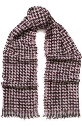 Мужской шарф из кашемира и шерсти с принтом BRUNELLO CUCINELLI бордового цвета, арт. MSC6160R | Фото 1