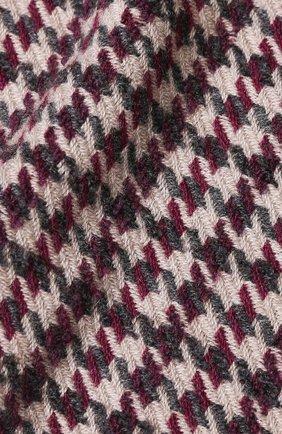 Мужской шарф из кашемира и шерсти с принтом BRUNELLO CUCINELLI бордового цвета, арт. MSC6160R | Фото 2