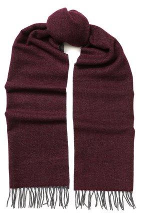 Мужской кашемировый шарф BRUNELLO CUCINELLI бордового цвета, арт. MSC617AG | Фото 1
