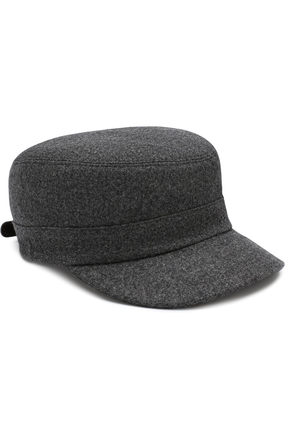 Мужская шерстяная кепка BRUNELLO CUCINELLI серого цвета, арт. M038P9955 | Фото 1