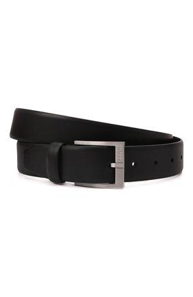 Мужской кожаный ремень BOSS черного цвета, арт. 50389781 | Фото 1