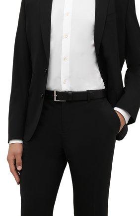 Мужской кожаный ремень BOSS черного цвета, арт. 50389781 | Фото 2