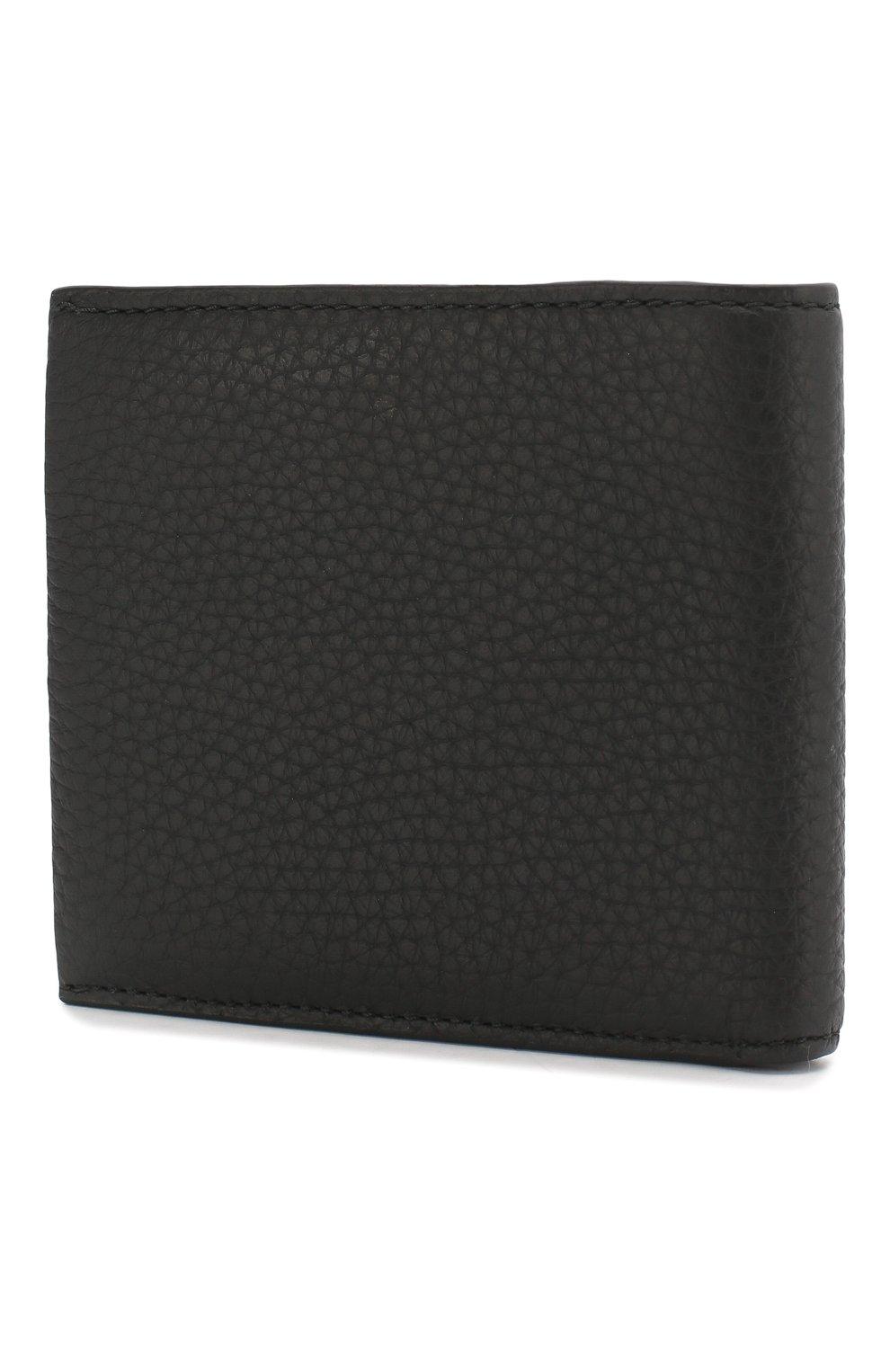 Мужской кожаное портмоне с отделениями для кредитных карт BOSS черного цвета, арт. 50390402 | Фото 2
