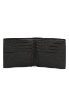 Мужской кожаное портмоне с отделениями для кредитных карт BOSS черного цвета, арт. 50390402 | Фото 3