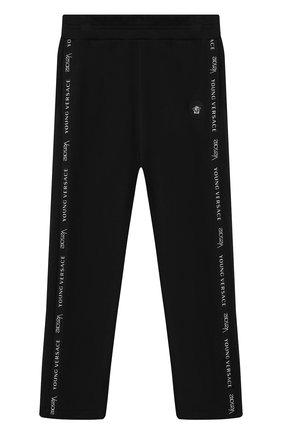 Хлопковые брюки с лампасами | Фото №1