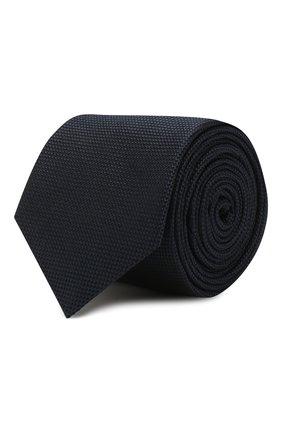 Мужской шелковый галстук HUGO темно-синего цвета, арт. 50384008 | Фото 1