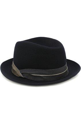 Мужская шерстяная шляпа GIORGIO ARMANI темно-синего цвета, арт. 747342/8A504 | Фото 2