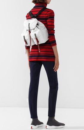 Женский рюкзак black nylon PRADA белого цвета, арт. 1BZ811-2BYB-F082K-OYO | Фото 2