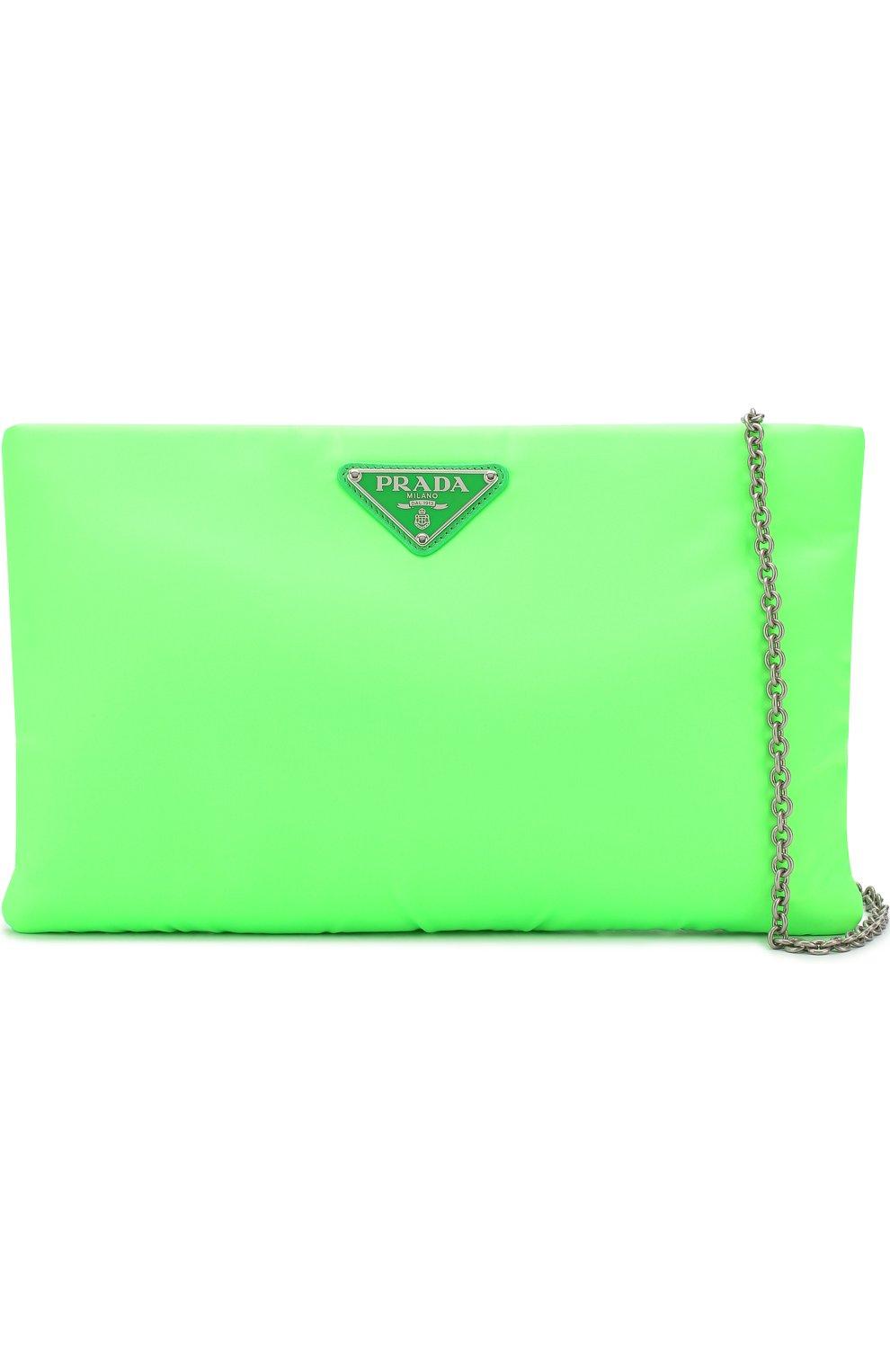 4c12103cf813 Женская сумка medium padded nylon PRADA зеленая цвета — купить за ...