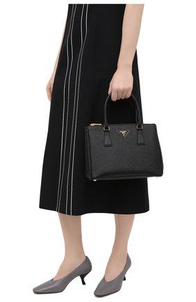 Женская сумка-тоут galleria PRADA черного цвета, арт. 1BA863-NZV-F0002-1 | Фото 2